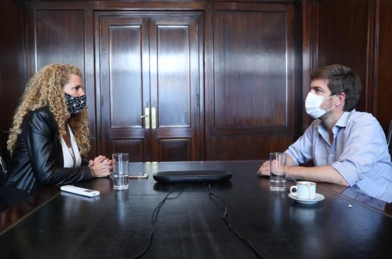 Ustarroz se reunió con la Directora Nacional de Desarrollo Regional de la Nación