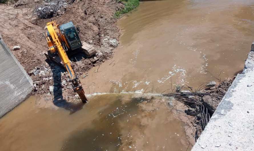 Avanzan las obras en la cuenca del Río Luján