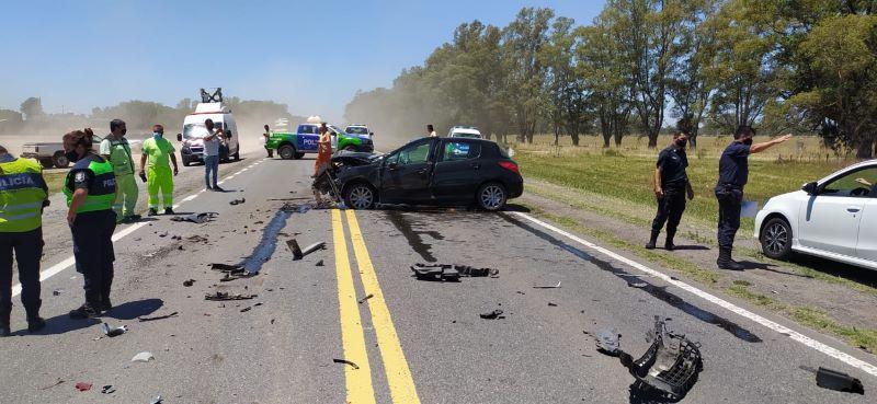 Ruta 5: choque entre un camión y un auto