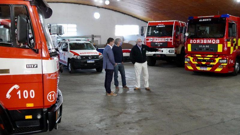 Firman acuerdo entre Corredores Viales y Bomberos Voluntarios de Mercedes, Suipacha, Chivilcoy, Alberti y Bragado