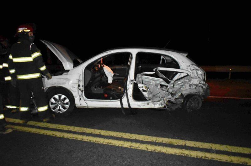 Múltiple colisión vehicular sobre Ruta 5