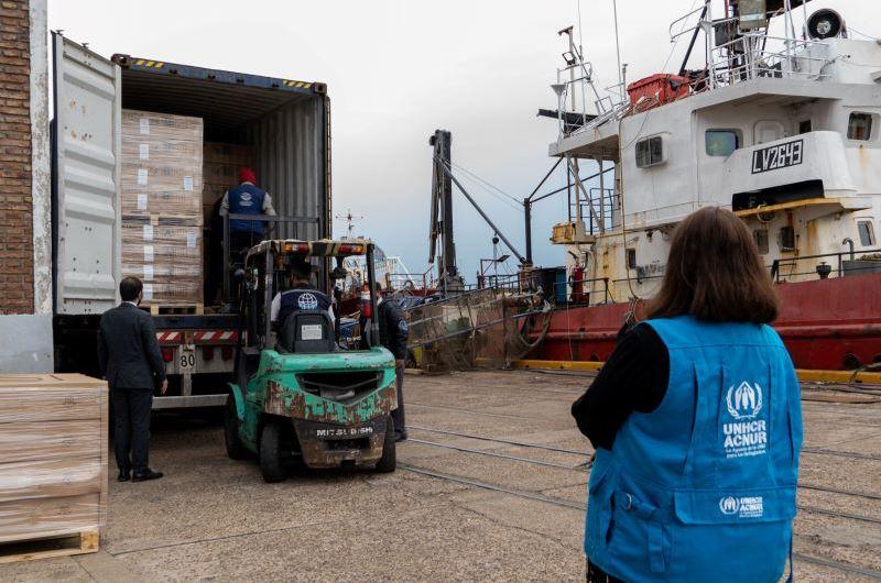 Provincia recibió donaciones de la Agencia de las Naciones Unidas para los Refugiados