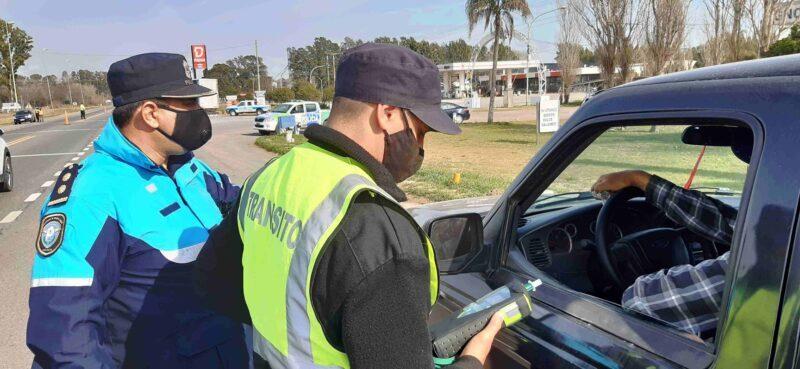 Aprehendido en operativo de control vehícular