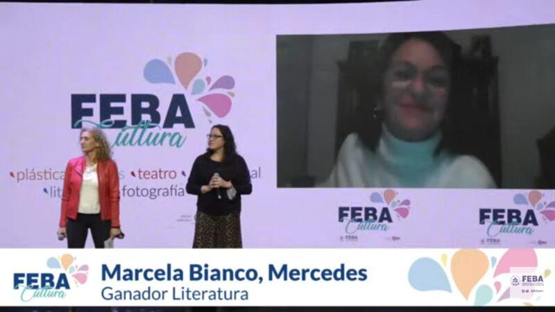 Marcela Bianco ganó el premio en Literatura de FEBA Cultura