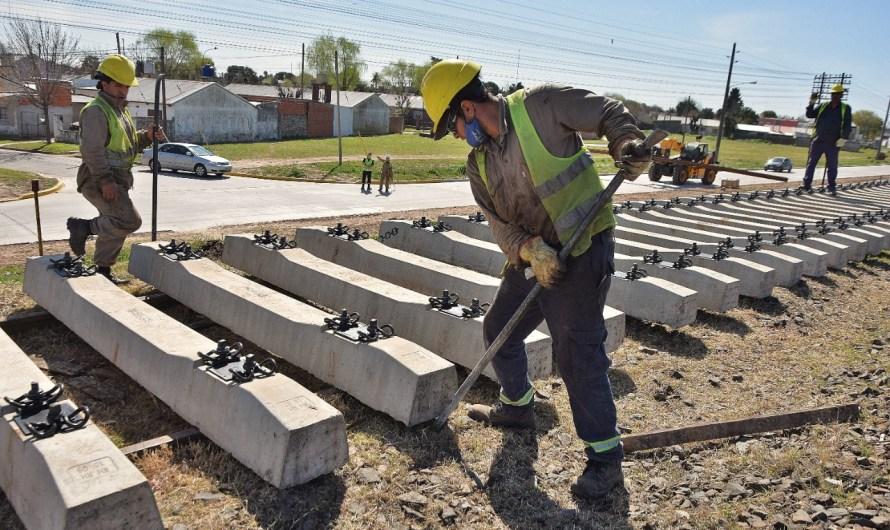 Avanza la renovación de vías del Sarmiento entre Mercedes y Luján