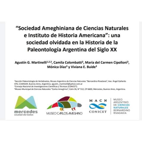 El Museo Ameghino participa de la Semana de la Arqueología y Paleontología