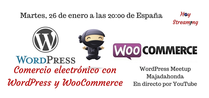 WordPress y woocommerce emision en directo de hoy streaming a traves de youtube