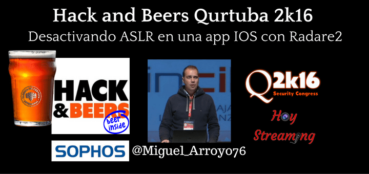 Charla de Miguel Angel Arroyo en el Hack and Beers de Qurtuba 2016 emitida en directo por Hoy Streaming