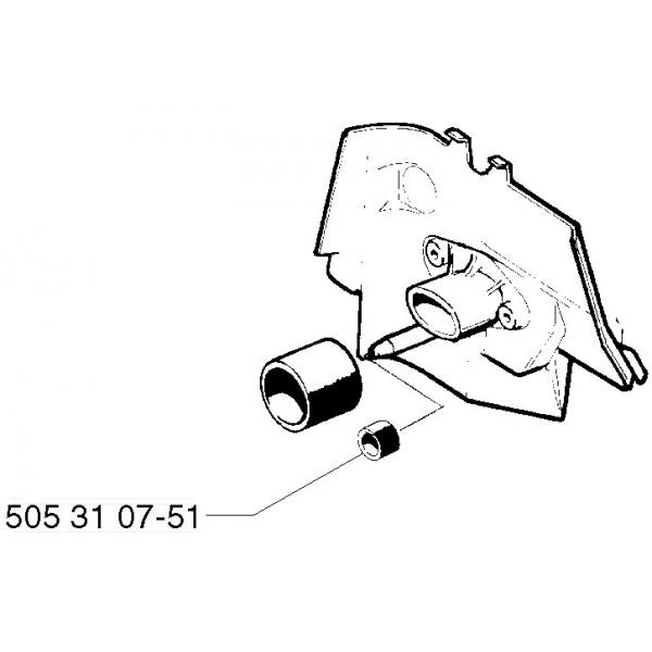 Уплотнитель импульсного канала для мотокос, бензопил