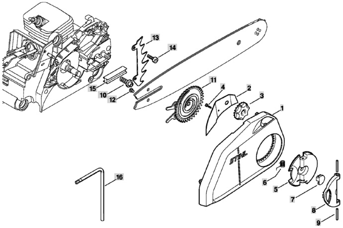Упор зубчатый для бензопил Stihl MS 170, 171, 180, 181