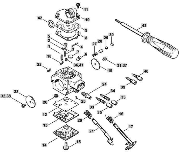Мембраны карбюратора Walbro HD для бензопил Stihl MS 270