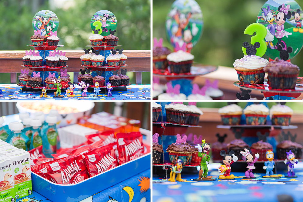 Mickey Mouse themed birthday cupcakes