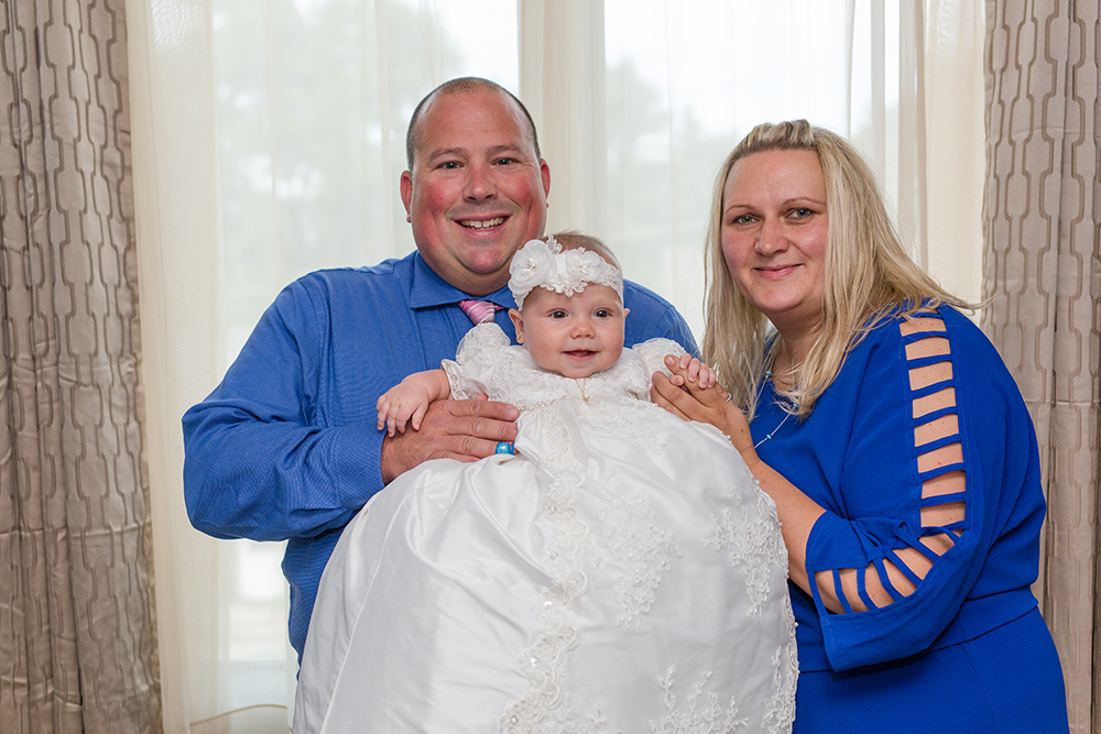Godparents with Goddaughter