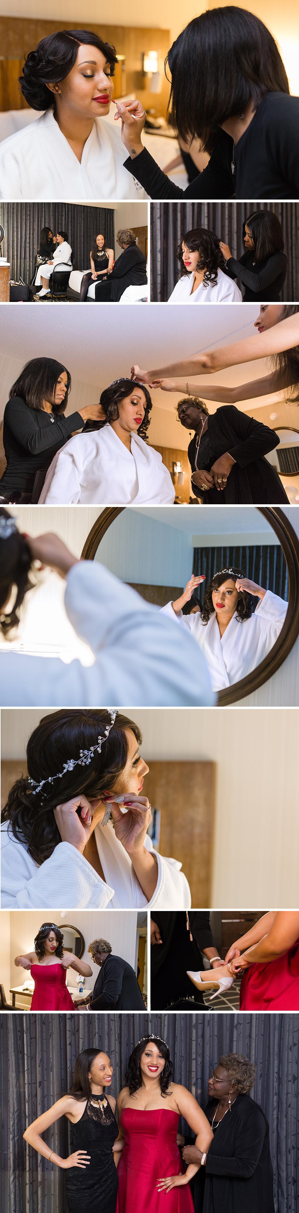 Bride Getting Ready before Wedding