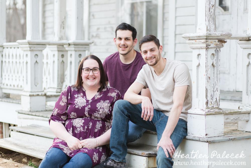 family portrait on front porch
