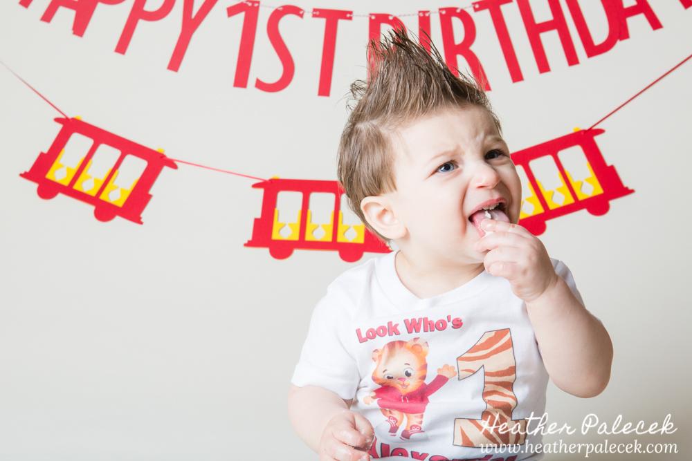 daniel tiger themed cake smash