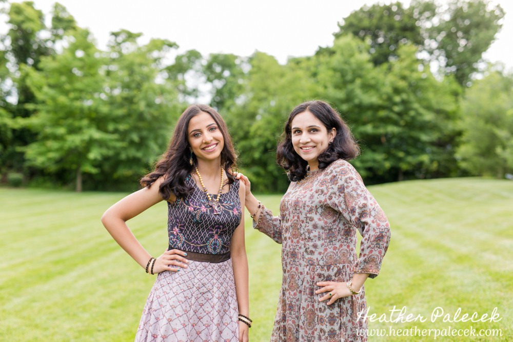girl and mom pose for sweet sixteen portrait session
