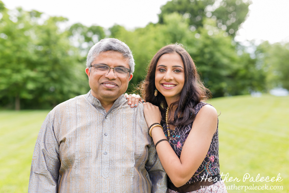 girl and dad pose for sweet sixteen portrait session