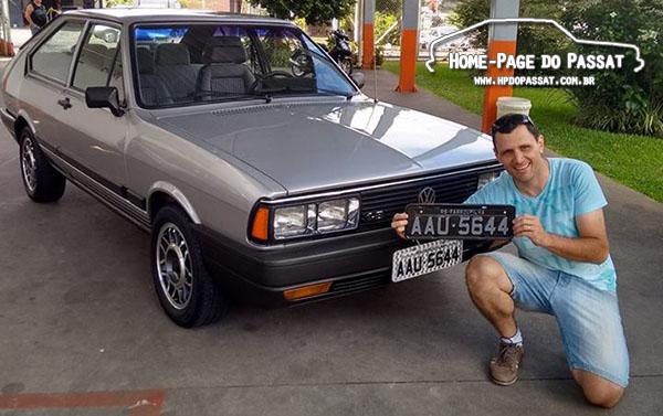 Passat GTS Pointer 1986 placa preta
