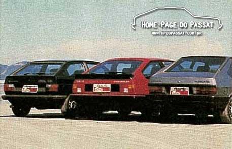 Comparativo dos esportivos com motor 1.8: Passat GTS x Monza SR x Gol GT