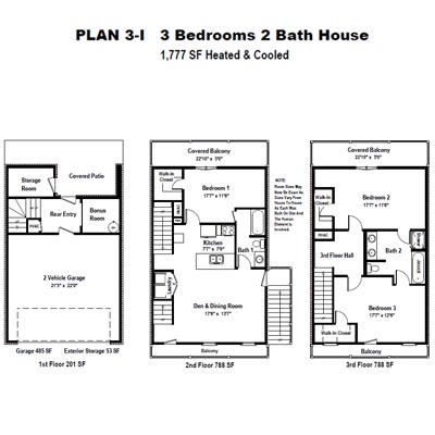 The Garden Homes of Highland Plantation Plan 3I