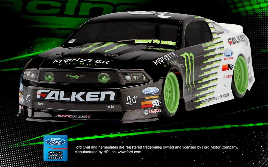 Nos Cars Wallpaper 105945 Monster Energy Falken Tire 2011 Ford Mustang E10 Drift