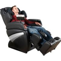 relaxing on a massage chair