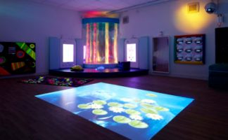 A rainbow multi-sensory room