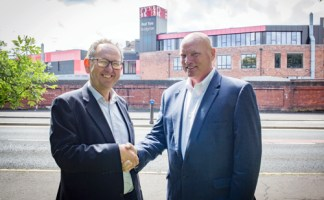 Ian Manson CEO at Clyde Gateway (L) and Lynn Mueller, CEO at IWS
