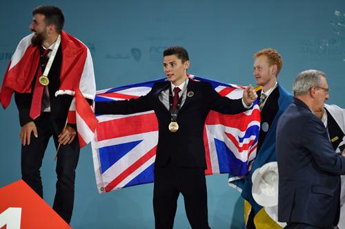 Daniel Martins on the podium