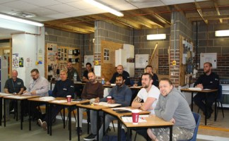 Engineers on an Eastleigh College course