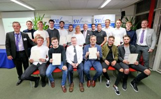 Apprentices and staff at the Portchester graduation