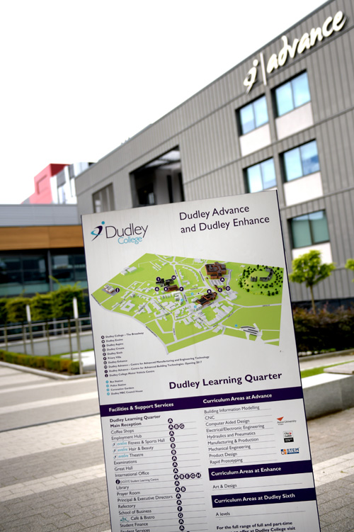 Dudley College's Advance II construction training facility