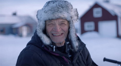 Face of the new Vaillant campaign, Ake, lives in Naimakka, the coldest part of Sweden.