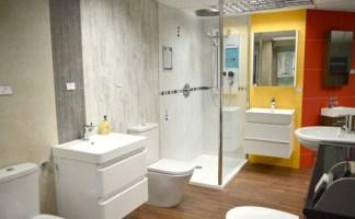 Plumb Plus Supplies Showroom displaying Fibo wall panels