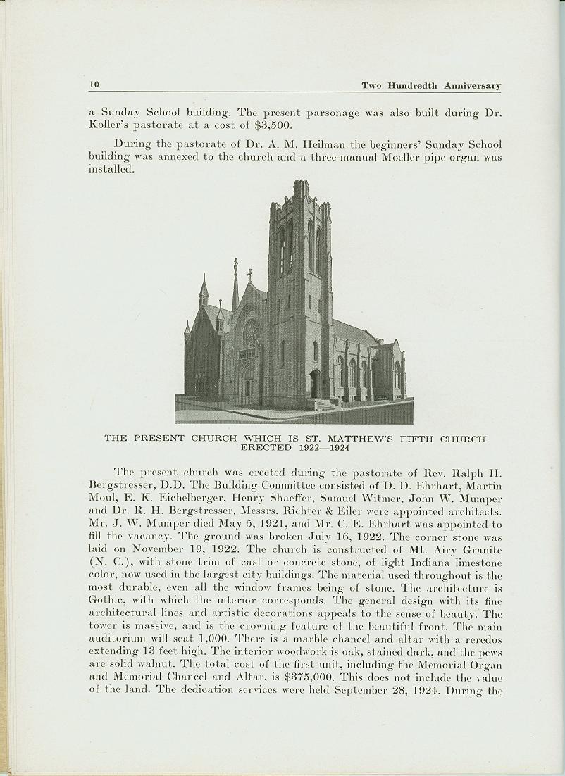 Saint Matthew's Church 200 year anniversary