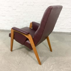 Red Lounge Chair Outdoor Tables And Chairs Dutch Design Burgundy 1960s Hpvintage