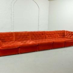 Bright Sofa Leather Designs 2018 Mid Century Vermilion Red Velvet 1970s Modular