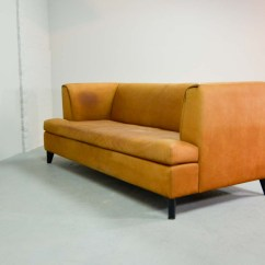 Nubuck Leather Sofa Single Chair Dimensions Mid Century Cognac Colored By Paolo