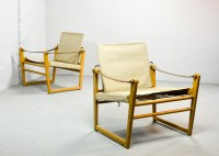 Pair of Mid-Century Safari Chairs Designed by Bengt Ruda ...