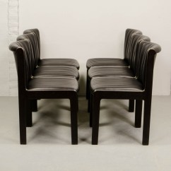 Quality Leather Dining Chairs Lawn Chair Webbing Mid Century Set Of Six High