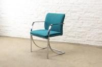 Mid-Century Design Chrome Ocean Blue Dining Chairs by KI ...