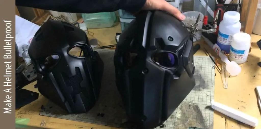 How to make motorcycle helmets bulletproof