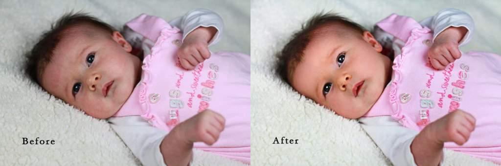 photo retouching baby
