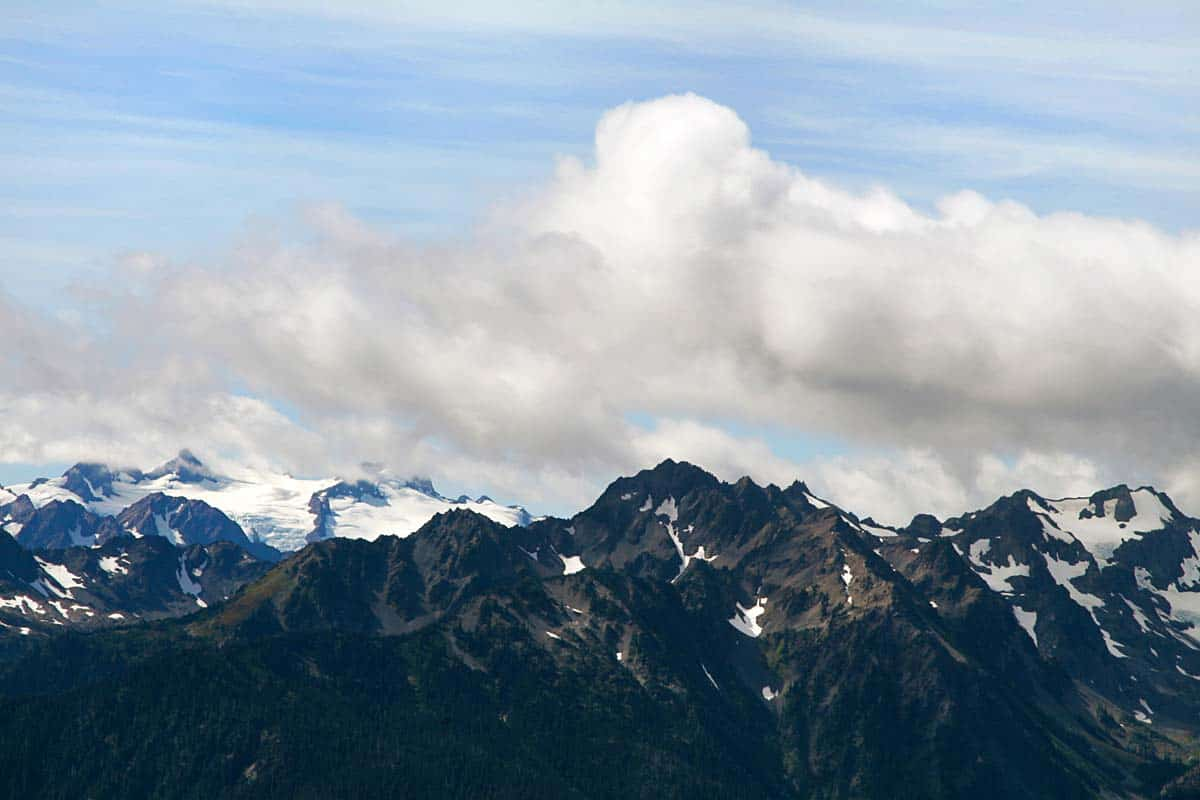 Olympic Mountains Up Close Photo