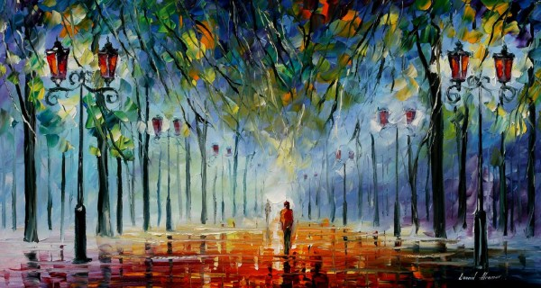 Leonid Afremov Winter Painting