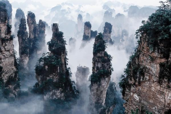 Zhangjiajie National Park - Avatar' Hallelujah Mountains Earth Hd Wallpapers