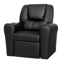 Artiss Kids PU Leather Reclining Armchair - Black