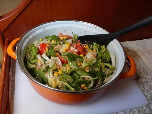 20150619 Eulalia - Cabrera Salad cooking day