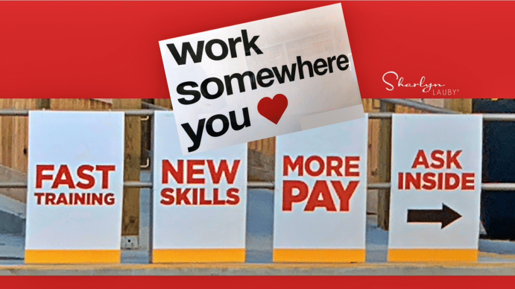 employment brand showing work benefits and work somewhere you love